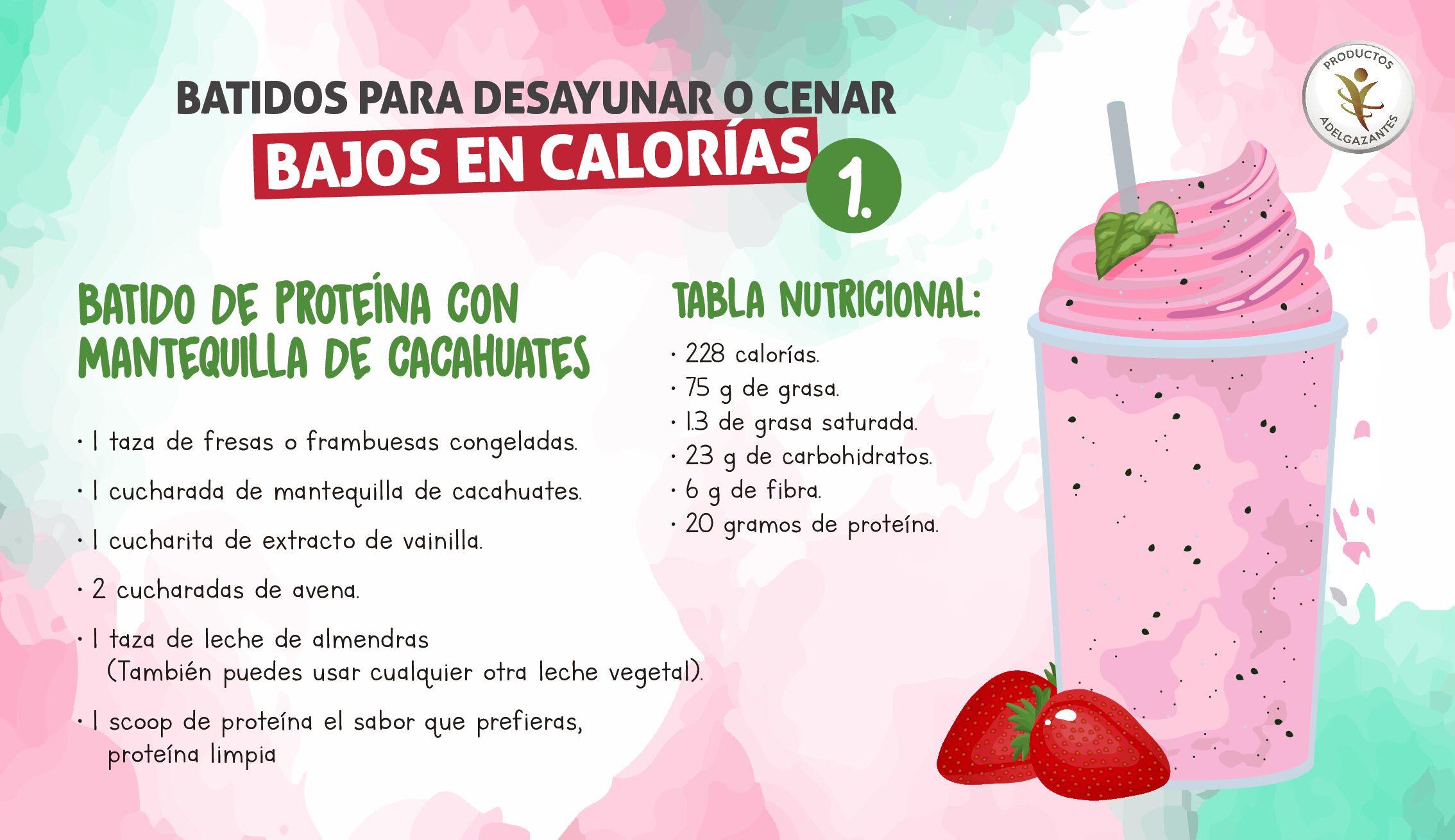 productos de batidos de pérdida de peso